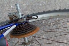 The mountain bike gears cassette Stock Photo