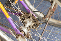 The mountain bike gears cassette Stock Photography