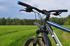 Mountain bike handlebar Stock Photography