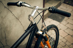 Mountain bike handlebar Royalty Free Stock Photography