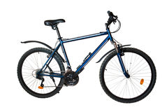 Mountain bike (hard-tail). Isolated on white background. Side view Stock Photo