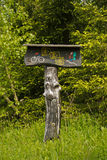 Mountain bike and hiking trail signpost Royalty Free Stock Images