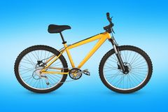 Mountain bike isolated on blue gradient background 3d render vector illustration