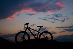 Mountain Bike. Journey to the Nature stock image