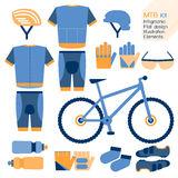 Mountain bike kit infographic element. Royalty Free Stock Photography