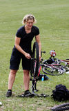 Mountain Bike Maintenance Royalty Free Stock Image