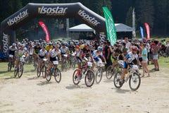 Mountain bike marathon Stock Image