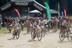 Mountain bike marathon Stock Photo