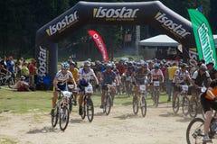 Mountain bike marathon Royalty Free Stock Photo