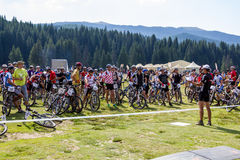 Mountain Bike Marathon Royalty Free Stock Photography