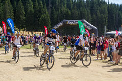 Mountain Bike Marathon Royalty Free Stock Image