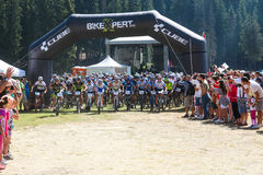 Mountain Bike Marathon Royalty Free Stock Images
