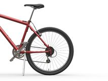Mountain bike metallico rosso Fotografie Stock