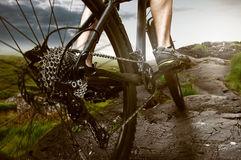 Mountain Bike. With a Mountain Bike through the mountains Royalty Free Stock Image
