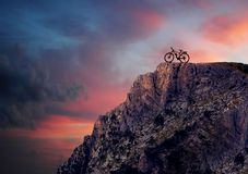 Mountain bike in mountains Royalty Free Stock Photo