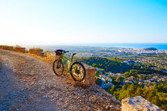 Mountain bike MTB Denia at Montgo track Spain Royalty Free Stock Images
