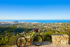 Mountain bike MTB Denia at Montgo track Spain Stock Photo