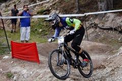 Mountain bike, Pamporovo, Bulgária, competição do campeonato do mundo Fotografia de Stock Royalty Free