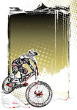 Mountain bike poster background Royalty Free Stock Photo