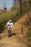 Mountain bike race Stock Image