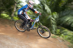 Mountain-bike Racer Royalty Free Stock Photos