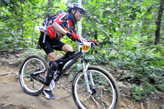 Mountain Bike Racer Royalty Free Stock Images