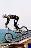 Mountain Bike Racer Stock Photography