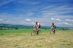 Mountain Bike Racers Stock Photos