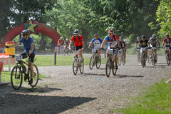 Mountain bike racing Royalty Free Stock Image