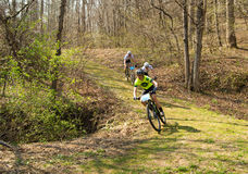 Mountain Bike Racing Royalty Free Stock Photography