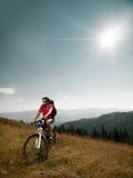Mountain bike rider Stock Image