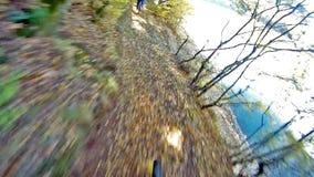 Mountain Bike from Rider's POV Stock Photos