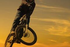 Mountain bike rider stunt Royalty Free Stock Photo