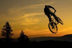 Mountain bike rider stunt Stock Photo