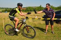 Mountain bike rider Royalty Free Stock Photo