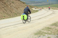 Mountain bike rides tibet, china - Stock Image Stock Photography