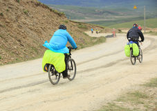 Mountain bike rides tibet, china - Stock Image Stock Images