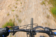 Mountain bike on a rural road Royalty Free Stock Image