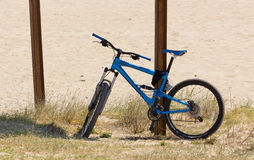 Mountain Bike on a Sandy Beach Royalty Free Stock Image