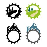 Mountain bike. A set of mountain bike icons Stock Photos