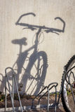Mountain bike shadow Stock Photo