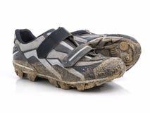 Mountain bike shoes Stock Photo