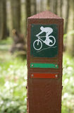 Mountain Bike Sign Royalty Free Stock Photos