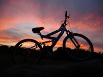 Mountain bike silhouette Stock Image