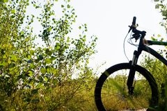 Mountain bike silhouette Royalty Free Stock Photography