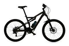 Mountain bike silhouette Stock Photos