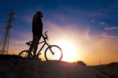 Mountain bike.Sport and healthy life Royalty Free Stock Photos
