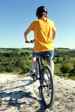 Mountain bike.Sport and healthy life.Extreme sports.Mountain bic Royalty Free Stock Images