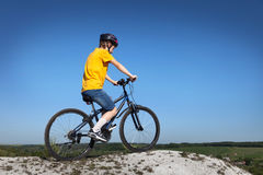 Mountain bike.Sport and healthy life.Extreme sports.Mountain bic Royalty Free Stock Photography