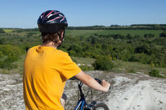 Mountain bike.Sport and healthy life.Extreme sports.Mountain bic Stock Image